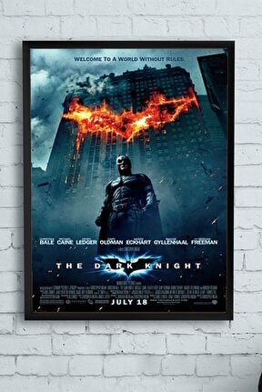 The Dark Knight-kara Şövalye Film Afişi Çerçeveli Tablo 3 (50x70cm)