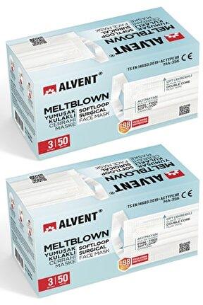 Yumuşak Kulaklı Meltblown Maske 100 Adet - Tıp2r - ( En Az %98 Koruma - Sertifikalı ) - Beyaz