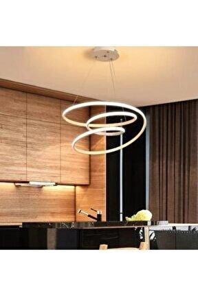 A+ Modern Sarkıt Power Led Avize Concept Ürün Krom Beyaz Işık