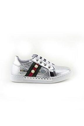 Kız Çocuk Gümüş Ortopedik Ayakkabı