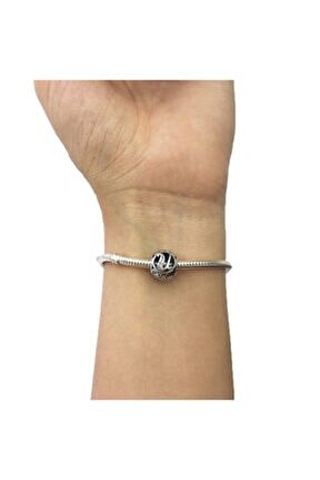 U Harfi Pandora Bilekliklerine Uyumlu Gümüş Charm