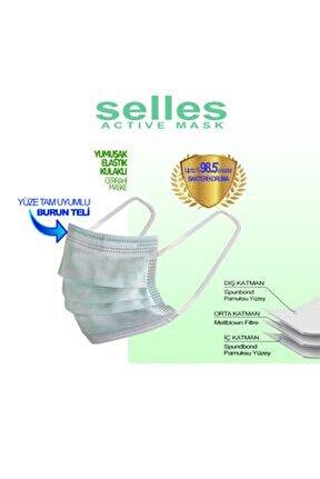 Yeni Nesil Filtreli Elastik Kulaklı 3 Katlı 50 Adet Cerrahi Maske