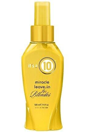 It`s A 10 Miracle Leave-ın Blondes Sarı Saçlar Için Durulanmayan Krem 120ml