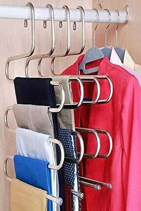 5 Katlı Metal Pantolon Eşarp Askısı - 4 Adet
