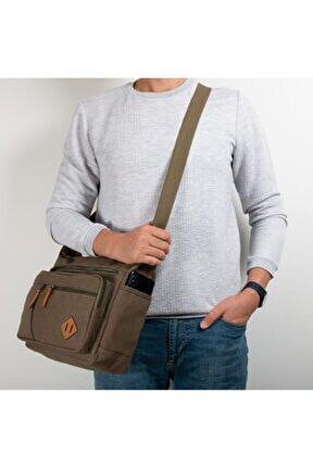 Unisex Kanvas Postacı Çanta Gk13 Haki