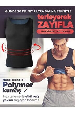 Erkek Termal Sauna Pro Atlet Sauna Etkili Terleme Atleti Ince Kumaş Sweet Sweat Atlet