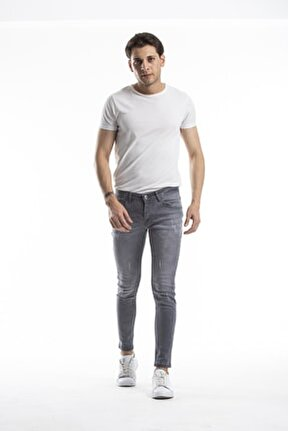 Skinny Fit Likralı Bilek Üstü Kot Pantolon