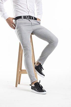 Slimfit Likralı Bilek Üstü Kumaş Pantolon