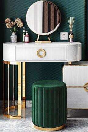 Long Line Green - Gold Puf