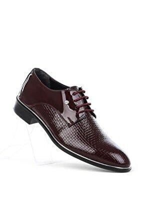Erkek Bordo Rugan Klasik Ayakkabı