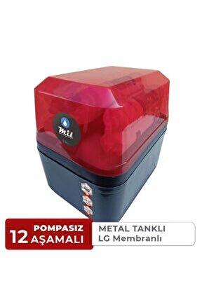 Mil Su 12 Aşamalı Metal Tanklı Lg Membran Kapalı Kasa Su Arıtma Cihazı (DNP12-M-L)