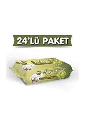 Zeytinyağlı Islak Havlu 24X90 Lı 24 Paket 2160 Yaprak