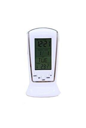 Dijital Masaüstü Işıklı Dereceli Saat, Oda Termometreli Alarmlı Dijital Saat