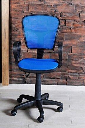 Sandalye Ofis Ev Sekreter Pc Koltuğu Fileli Mavi