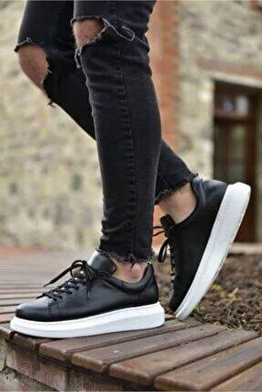 Yüksek Taban Siyah Erkek Casual Ayakkabı