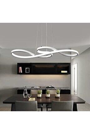 Beyaz Işık A+ Modern Sarkıt Power Led Avize Krom Concept Ürün