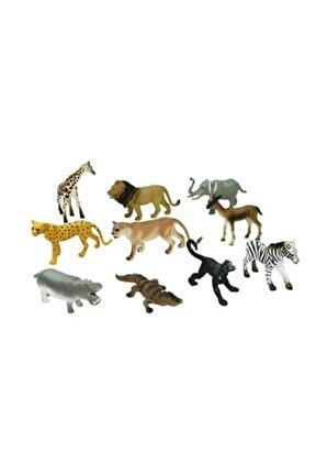 Kutulu 10 Parça Hayvan Seti Vahşi Hayvanlar