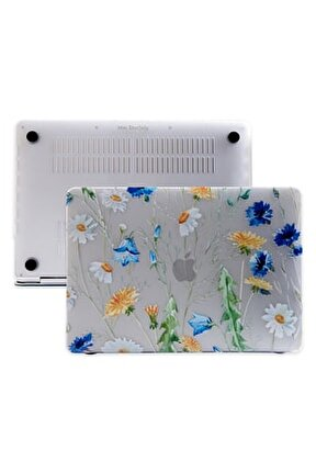 Macbook Air Kılıf 13inc Hardcase Touch Id A1932 A2179 A2337 Uyumlu Kılıf Flower01n 1885
