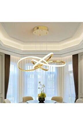 A+ Modern Sarkıt Power Led Avize Concept Ürün Gün Işığı Gold Sarı