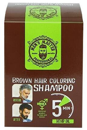 Men Saç Ve Sakal Renklendirici Unisex Kahverengi Şampuan 10x25ml