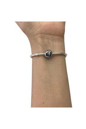 T Harfi Pandora Bilekliklerine Uyumlu Gümüş Charm