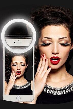 Şarjlı Selfie Işığı 3 Kademeli Led Aydınlatma Telefon Aparatı