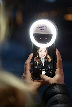 Telefona Takılan Şarjlı Ve 3 Kademeli Led Selfie Işığı