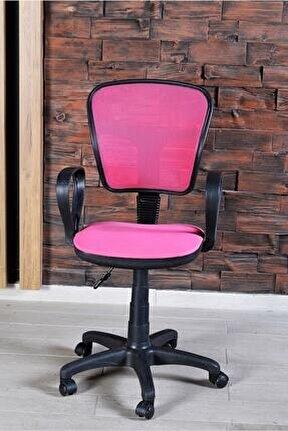 Sandalye Ofis Ev Sekreter Pc Koltuğu Fileli Pembe