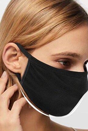 Siyah Yıkanabilir Bez Maske 5 Adet %100 Pamuk