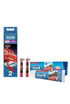 Diş Fırçası Yedek Başlığı Cars 2'li+ Çocuk Diş Macunu Cars 75 Ml