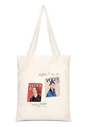 Kadın Baskılı Bez Çanta