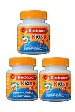 Redokson Kids 3 Adet (çiğnenebilir C-d Vitaminleri Ve Çinko Içeren Gıda Takviyesi) 60 Adet