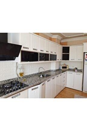 Beyaz Mutfak Tezgah Arası 6,5mm Kendinden Yapışkanlı Panel