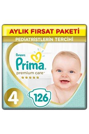 Bebek Bezi Premium Care 4 Beden 126 Adet Maxi Aylık Fırsat Paketi