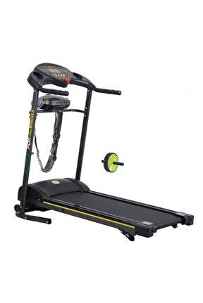 Magnes 2 HP Motorlu, Masajlı Koşu Bandı + Egzersiz Tekerleği