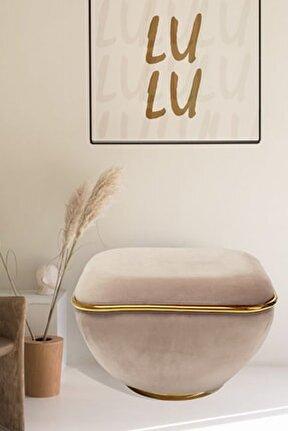 Lulu Cream - Gold Puf