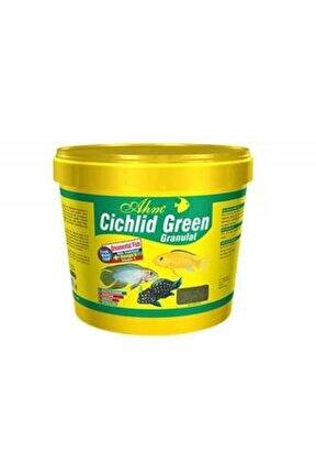 Cichlid Green Granulat Ciklet Balığı Yemi Bitkisel 10lt 3kg