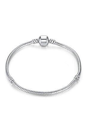 Charm Uyumlu Klasikyılan Zincir Gümüş Bileklik