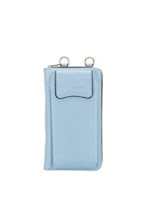 Joan Kadın Çanta Cüzdan Telefon Kılıfı Azur Blau 6097
