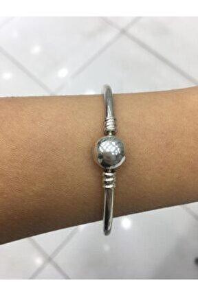 Kadın Küre Pandora Charm Uyumlu Gümüş Kelepçe