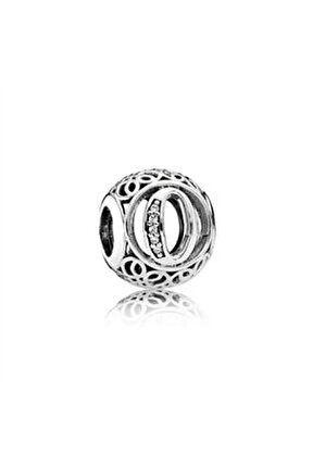 O Harfi Pandora Bilekliklerine Uyumlu Gümüş Charm