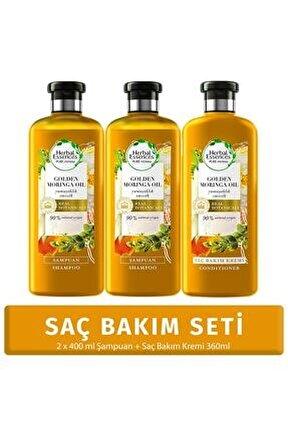 Yumuşaklık Altın Moringa Yağı Şampuan 400 ml*2 Adet + Saç Bakım Kremi 360 ml