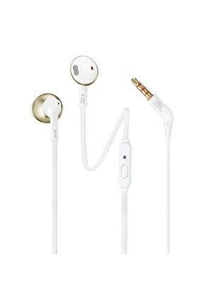 T205 Beyaz Altın Kablolu Kulak İçi Kulaklık