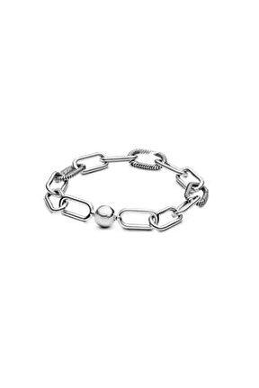 Halka Zincir Gümüş Charm Bileklik
