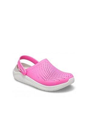 Literide Clog Bayan Terlik & Sandalet - Electric Pink/almost White (elektrik Pembe/kırık Beyaz)