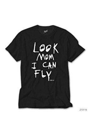 Travis Scott Look Mom I Can Fly Siyah Tişört
