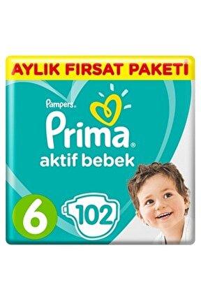Bebek Bezi Aktif Bebek 6 Beden 102 Adet Ekstra Large Aylık Fırsat Paketi