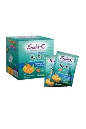 Suda Vitamin C 1000mg K2+d3 20 Orange Saşe