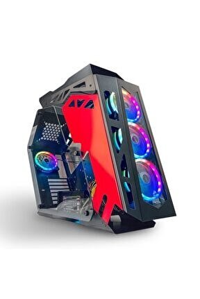 Road Rage Lk03 Black 4x Argb Fan USB 3.0 500W 80+ Plus ATX Gaming Bilgisayar Kasası