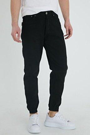 Erkek Siyah Slim Fit Jogger Pantolon